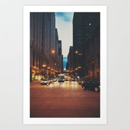 the streets of Chicago ... Art Print