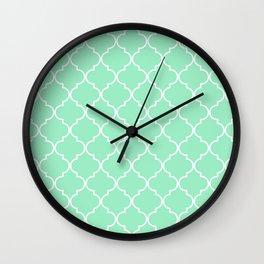 Quatrefoil - Mint Wall Clock