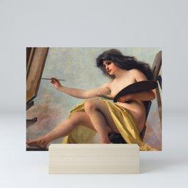 "Luis Ricardo Falero ""An allegory of art"" Mini Art Print"