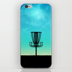 Disc Golf Basket Silhouette iPhone Skin