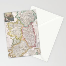 Vintage Map of Ireland (1794) Stationery Cards