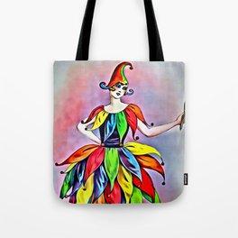 ART DECO LADY IN HARLEQUIN Tote Bag