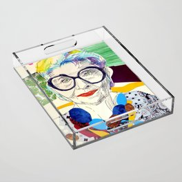 Iris Apfel Fanart Acrylic Tray