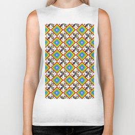 symetric patterns 75-mandala,geometric,rosace,harmony,star,symmetry Biker Tank