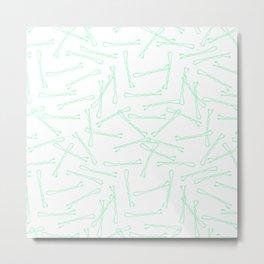 BOBBY PINS ((seafoam green)) Metal Print