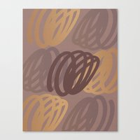 calligraphy Canvas Prints featuring Calligraphy 4 by Johs