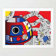 Star Wars Pop Art - Abstract R2D2 Art Print