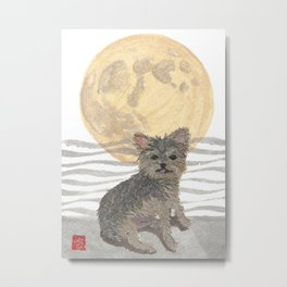 YORKIE, MOON, Yorkshire Terrier, Dog  Metal Print