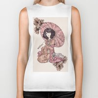 blossom Biker Tanks featuring  Blossom by Cat Milchard