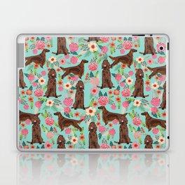 Irish Setter dog breed floral pattern gifts for dog lovers irish setters Laptop & iPad Skin