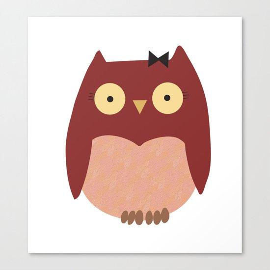 Girl Owl Canvas Print