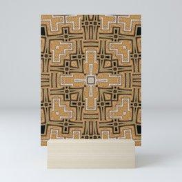 Gold Glitter Geometry Glam Mini Art Print