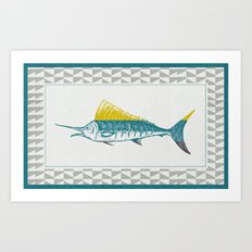 The ELusive Punk Fish 2 Art Print
