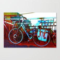 urban bike collage Canvas Print