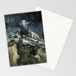 Night time Sniper Hunting Stationery Cards