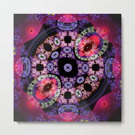 Dance in pink and purple, abstract pattern design Metal Print