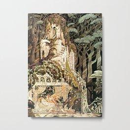 "Kay Nielsen Fairytale Illustration ""Sleeping Beauty"" Metal Print"