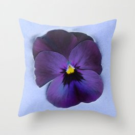 Ultra violet viola tricolor Throw Pillow