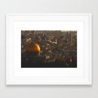 palestine Framed Art Prints featuring Jerusalem, Palestine by ear2ear