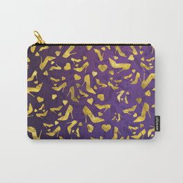 High Heels Gold shoe pattern Carry-All Pouch