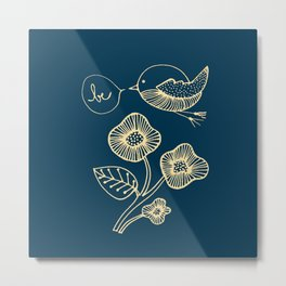 be in blue print Metal Print
