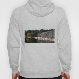 Fall Colors Accentuating Cliff Reflections Hoody
