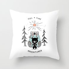Adventure Bear Throw Pillow