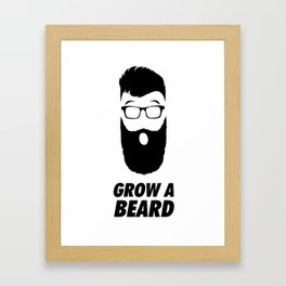 Grow a Beard Framed Art Print