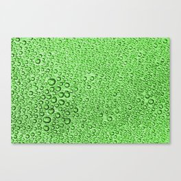 Water Condensation 05 Green Canvas Print