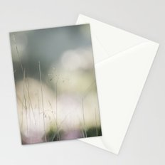 Detail of wild grass growing on a heath with early morning light. Norfolk, UK. Stationery Cards