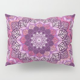 Boho Mandala in Deep Purple and Pink Pillow Sham