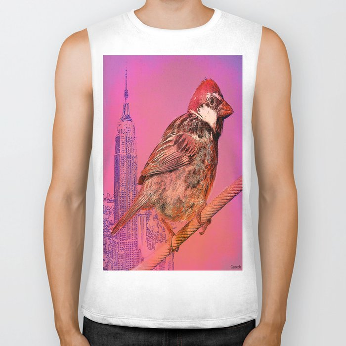 The New York sparrow Biker Tank