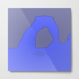 Delicate_Arch Peri Pop_Art - Arches_National_Park, Moab, Utah Metal Print