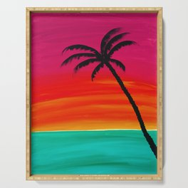 Sunset Palm 2 Serving Tray