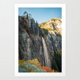 Bridal Veil Falls Telluride Colorado Autumn Waterfall Landscape Art Print