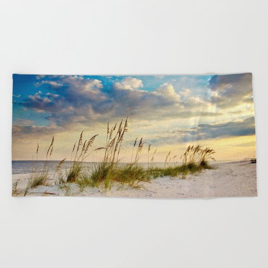 Sea Oats Beach Sunset Beach Towel