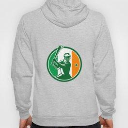 Hurling Ireland Flag Icon Hoody