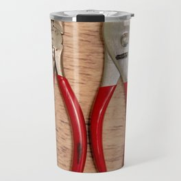 Red Handles Travel Mug