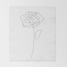 Single Rose Throw Blanket