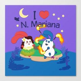 Ernest & Coraline | I love Northern Mariana Islands Canvas Print