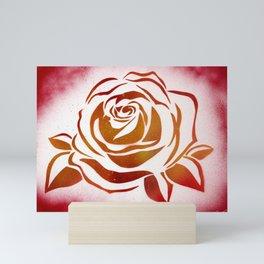 Fire Rose Mini Art Print