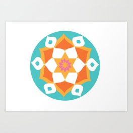 Rangoli of Love Art Print