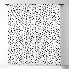 Modern Polka Dot Hand Painted Pattern Blackout Curtain
