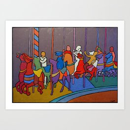 The Merry Go Round Art Print