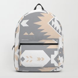 Southwestern Navajo Tribal, Gray, White, and Nude Blush Backpack