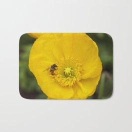 Poppy with Bee Bath Mat
