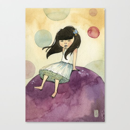 a bubble girl Canvas Print