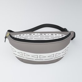 Bohemian grey&white monochromatic neutral pattern Fanny Pack