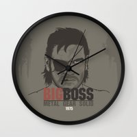metal gear solid Wall Clocks featuring Metal Gear Solid V: Ground Zeroes by Akyanyme