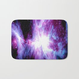 Orion Nebula Purple Periwinkle Blue Galaxy Bath Mat